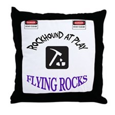 Rockhound Danger Shirt Throw Pillow