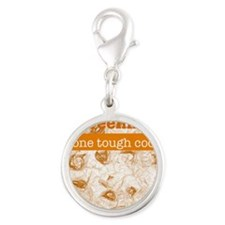 One Tough Cookie Silver Round Charm