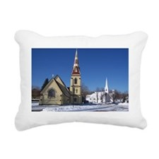 Mahone Bay winter Rectangular Canvas Pillow