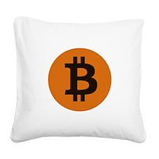 Bitcoin You So Scarry Square Canvas Pillow