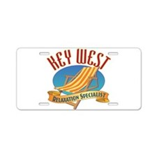 Key West Relax - Aluminum License Plate
