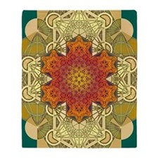Metatron-Star-Mandala-Poster Throw Blanket