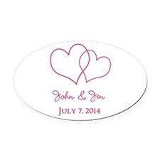 Custom Wedding Favor Oval Car Magnet