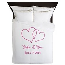 Custom Wedding Favor Queen Duvet