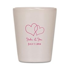 Custom Wedding Favor Shot Glass