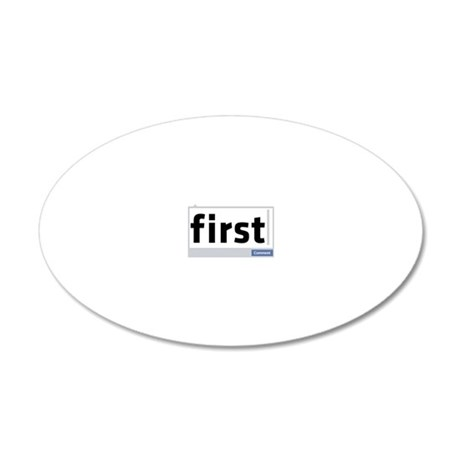 First Comment 20x12 Oval Wall Decal