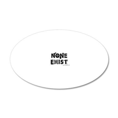 magnet-stacked-none-exist-cl 20x12 Oval Wall Decal