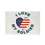 I Love My Soldier Rectangle Magnet (10 pack)