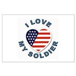I Love My Soldier Large Poster