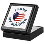 I Love My Soldier Keepsake Box
