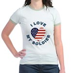 I Love My Soldier (Front) Jr. Ringer T-Shirt
