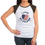 I Love My Soldier (Front) Women's Cap Sleeve T-Shi
