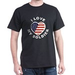 I Love My Soldier (Front) Dark T-Shirt
