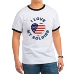 I Love My Soldier Ringer T