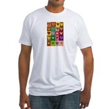 Pop Art Multi Colored Hearts Shirt