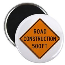 "Road Construction 500 FT - USA 2.25"" Magnet (100 p"