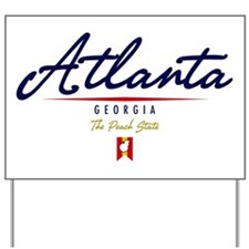 Atlanta Script W Yard Sign
