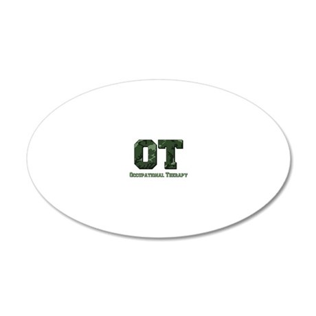 camo letters dark green 20x12 Oval Wall Decal