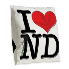 I Love Contraband Burlap Throw Pillow