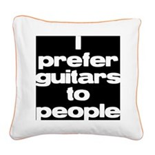 bwi prefer guitars Square Canvas Pillow