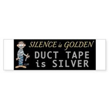 Duct Tape Humor Bumper Car Sticker