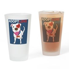 Adopt Love Drinking Glass