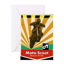 MOTOCROSS VINTAGE Greeting Card