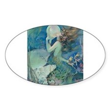 Art Deco Art Nouveau Mermaid With Pearl Pin Up Sti