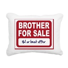 brother for sale Rectangular Canvas Pillow