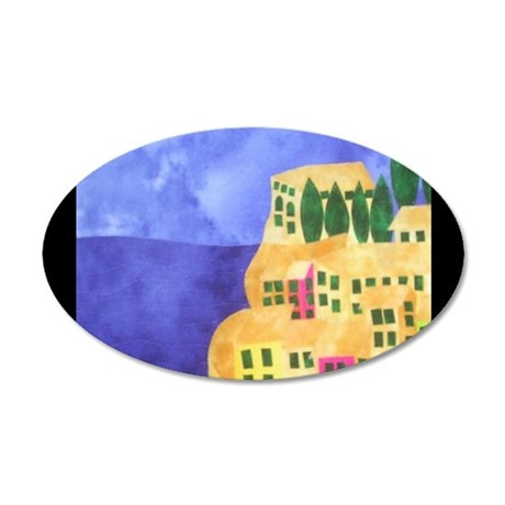 cinque-terre 35x21 Oval Wall Decal