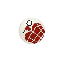 Heart Handgrenade Mini Button
