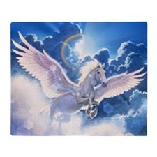 pegasus flying high Throw Blanket