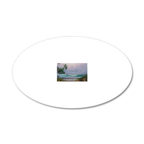 square-8 20x12 Oval Wall Decal
