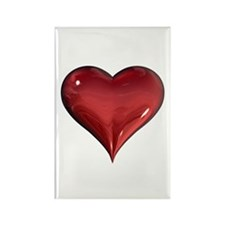3d Heart Rectangle Magnet