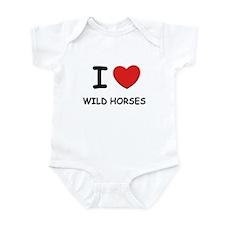 I love wild horses Infant Bodysuit