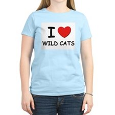 I love wild cats Women's Pink T-Shirt