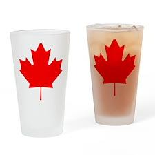 Canada Maple Leaf Drinking Glass