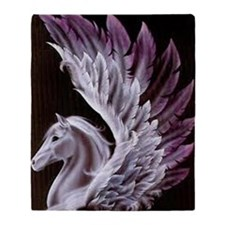 Purple Pegasus Throw Blanket