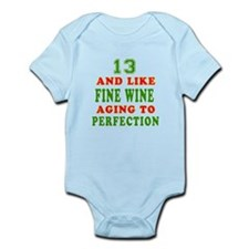 Funny 13 And Like Fine Wine Birthday Onesie