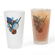 bluegrass full shirt Drinking Glass