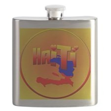 HAITI LOVE-Circled Flask