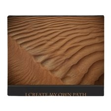 I Create My Own Path print Throw Blanket