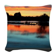 I Am Grateful print Woven Throw Pillow