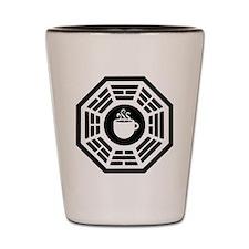 dharma coffee station Shot Glass