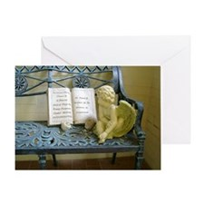 Angel Bench Greeting Card