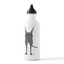 DaneBlueShirtBack Water Bottle