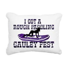 Rough Paddling Rectangular Canvas Pillow