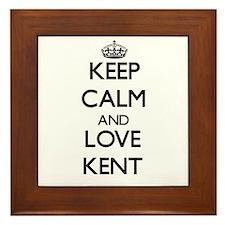 Keep Calm and Love Kent Framed Tile