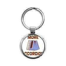 More Accordion-1 Round Keychain