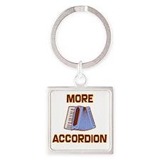 More Accordion-1 Square Keychain